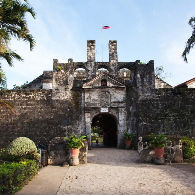"""Fort San Pedro, Cebu"" stock image"