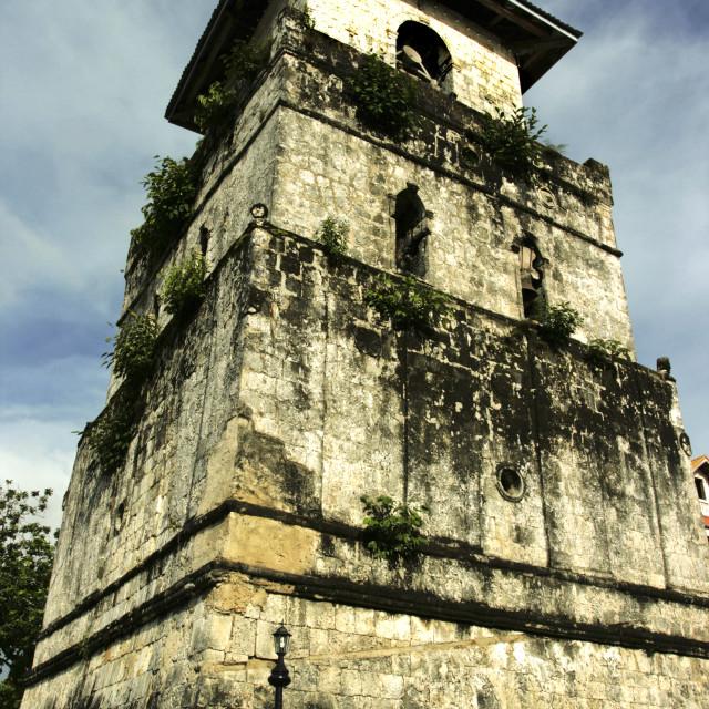 """Baclayon Watchtower Belfry, Bohol"" stock image"