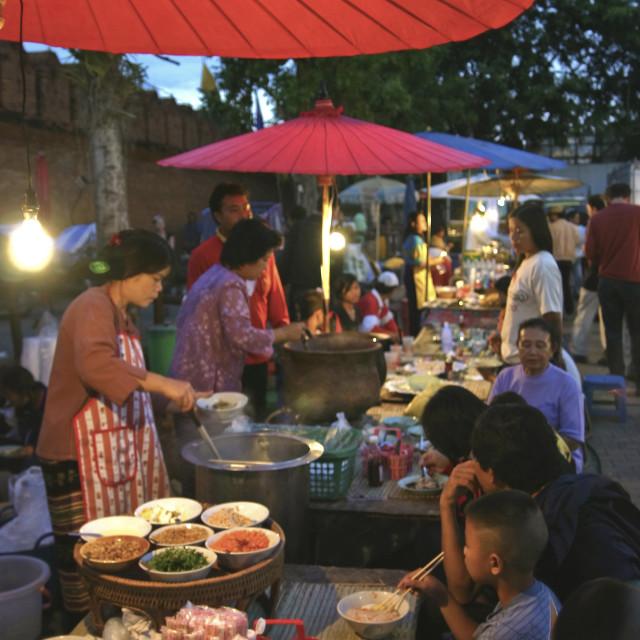 """Tha Pae Market - Chiang Mai Weekend Night Market"" stock image"