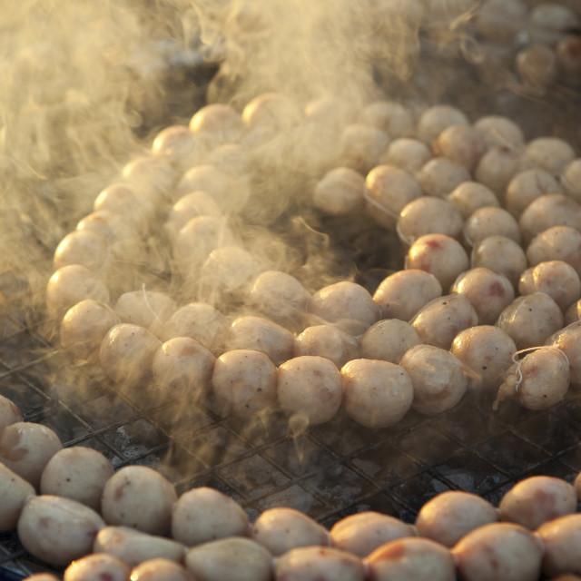 """""""Chiang Mai Sausage, Sai Krok"""" stock image"""