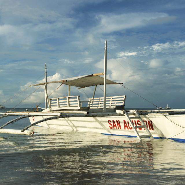 """Filipino Outrigger, Bohol"" stock image"
