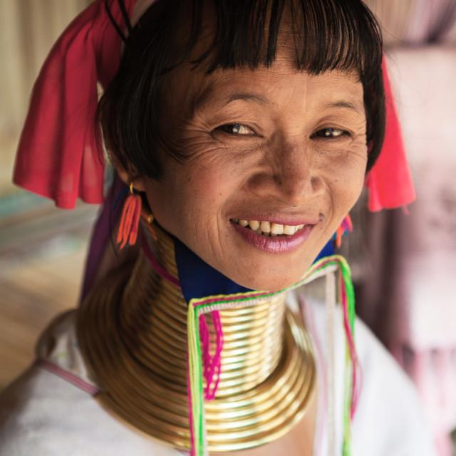 """""""Padaung Karen Long Neck Tribal Woman"""" stock image"""