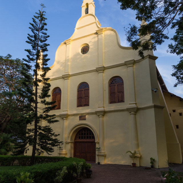 """St. Francis Church Kochi"" stock image"
