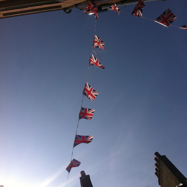 """Union Jack Bunting at Jubilee"" stock image"