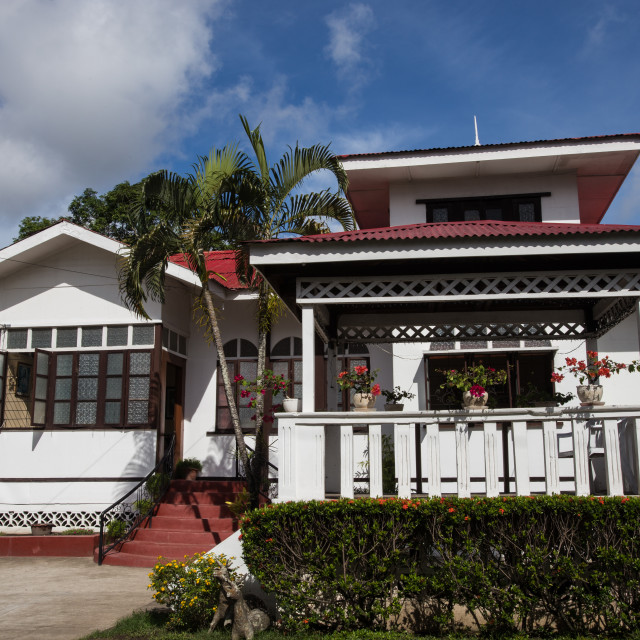 """Philippine Vernacular Architecture - Pinero House"" stock image"