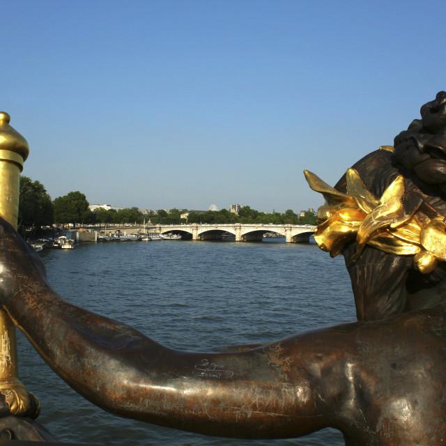 """Pont Alexandre III Bridge"" stock image"