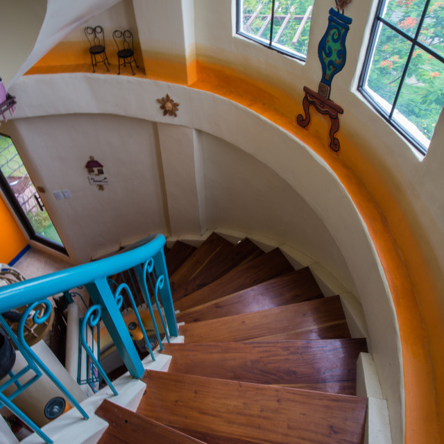 """Spanish Colonial Stairway"" stock image"