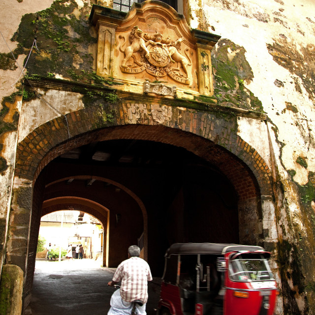 """""""Galle Fort Old Gate"""" stock image"""