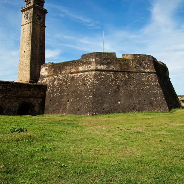 """""""Galle Fort Ramparts"""" stock image"""