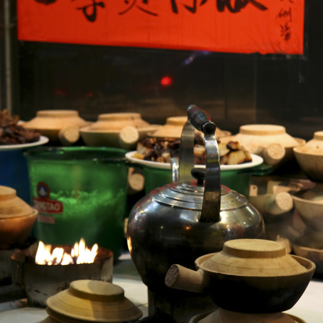 """Chinese Claypot, Hong Kong"" stock image"
