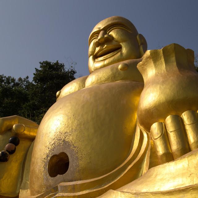 """""""Fat Buddha at Wat Khao Takiab"""" stock image"""