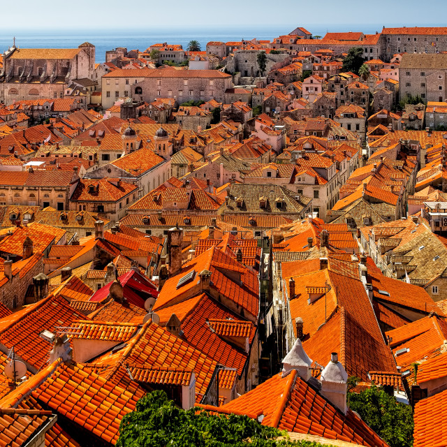 """Red Rooftops of Dubrovnik"" stock image"