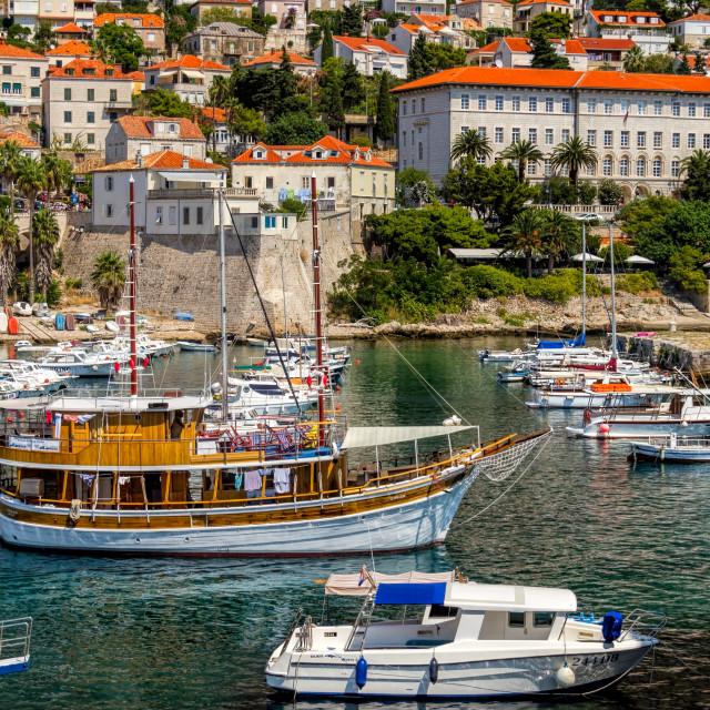 """Boat Harbour Dubrovnik"" stock image"