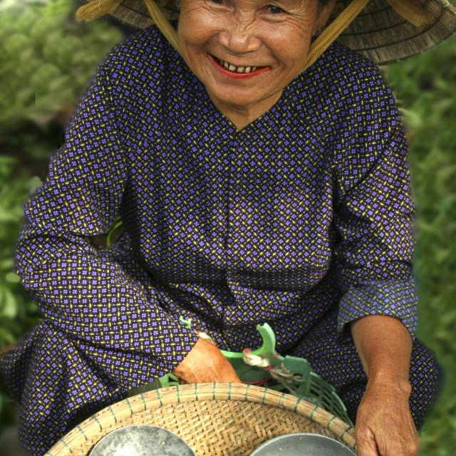 """Hoi An Market Vendor"" stock image"