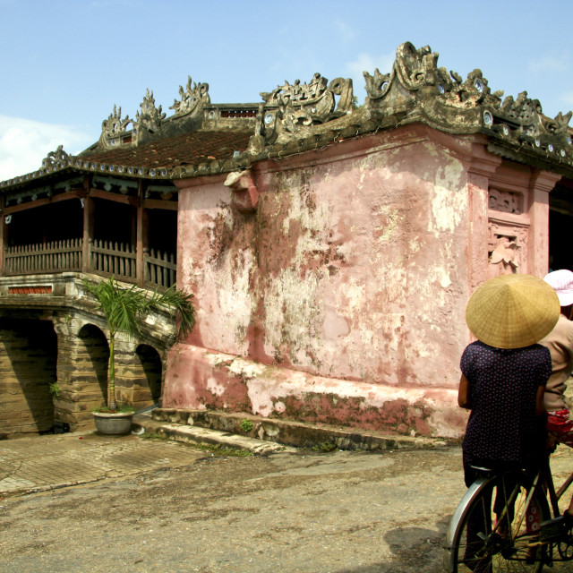 """Japanese Covered Bridge, Hoi An Images"" stock image"