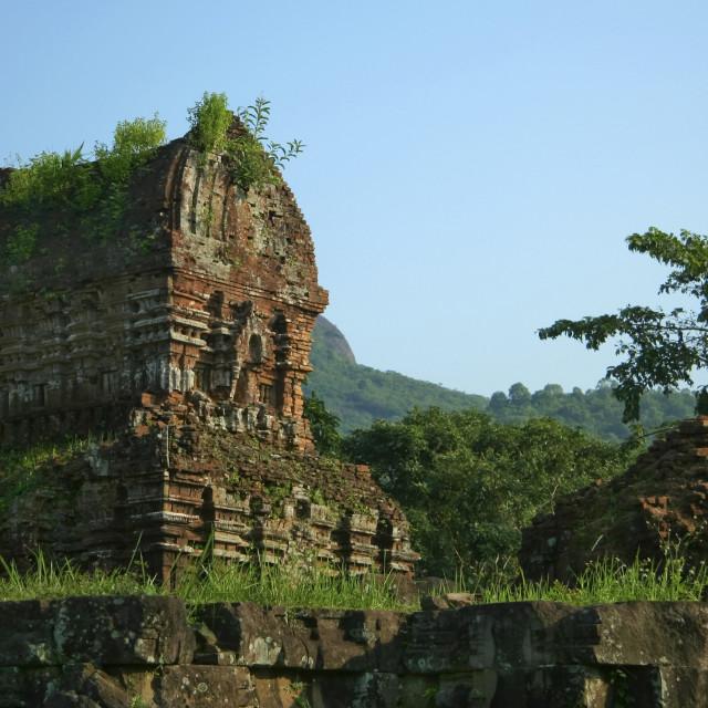 """My Son Sanctuary Ruins"" stock image"