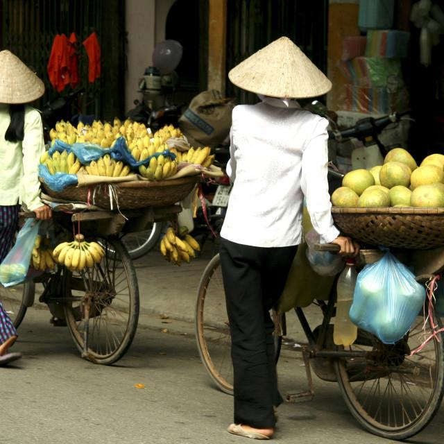 """Fruit Vendors, Hanoi Old Quarter"" stock image"