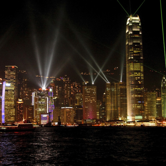 """Symphony of Lights, Hong Kong"" stock image"