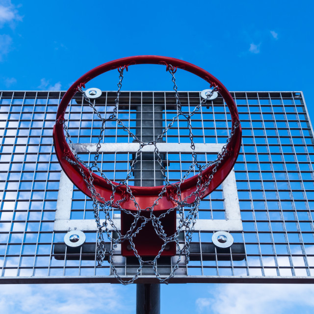 """Basketball hoop"" stock image"