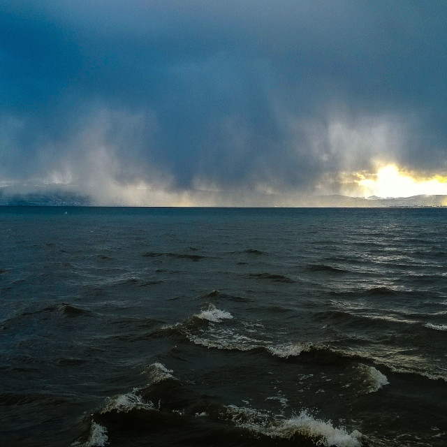 """Bodensee storm"" stock image"