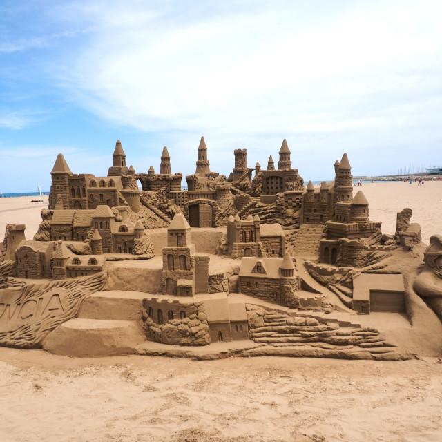 """sand castle"" stock image"