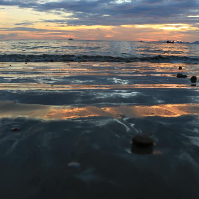 """Beach Sunset in Ao Nang"" stock image"