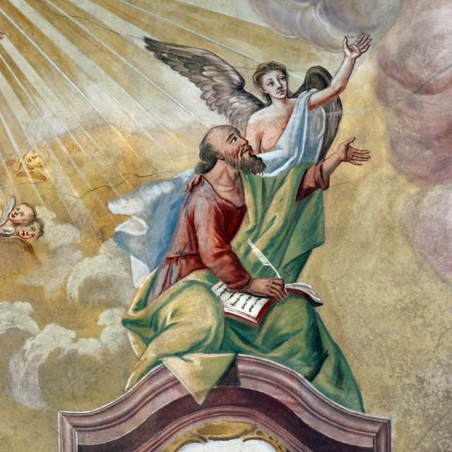 """Saint Matthew the Evangelist"" stock image"
