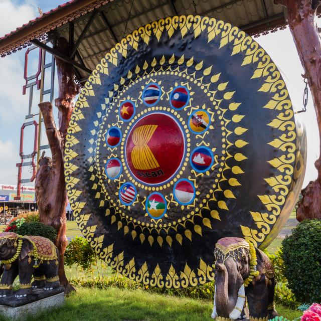 """""""Phibun Mangsahan Gongs"""" stock image"""