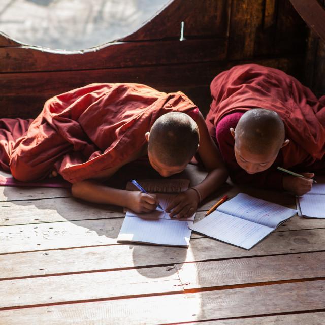 """""""Shwe Yan Pyay Monastery"""" stock image"""