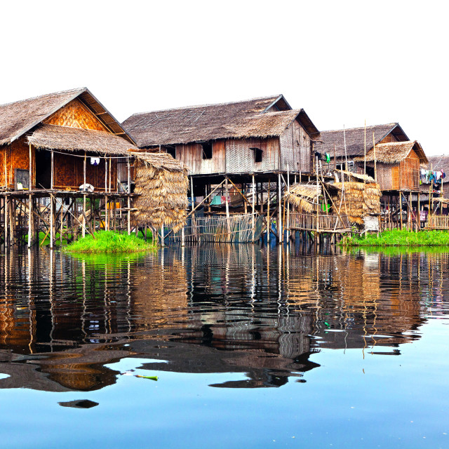 """Floating Village Ywama"" stock image"