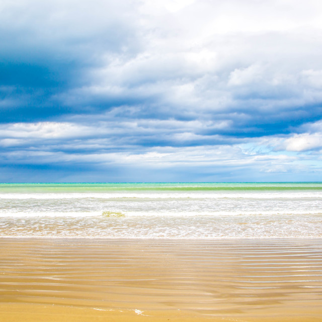 """Beautiful Beaches of New Zealand"" stock image"