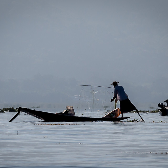 """Fishermen of Inlay"" stock image"