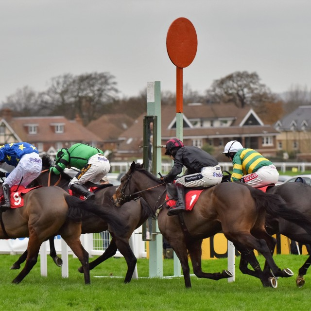 """The Winning Post"" stock image"