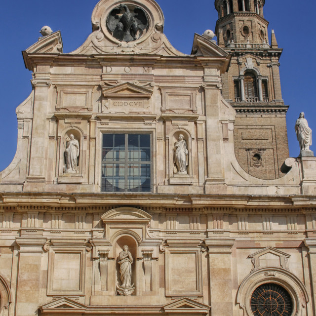 """""""Church of St John the Evangelist in Parma"""" stock image"""