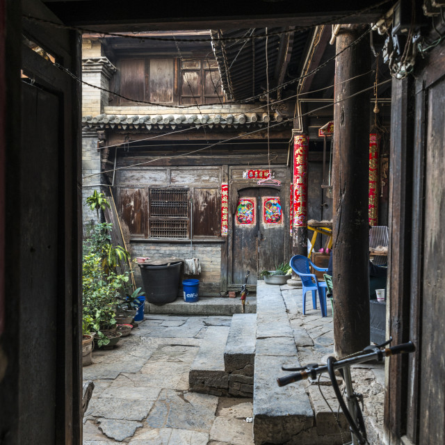 """Chinese traditional architectures in Yunnan"" stock image"