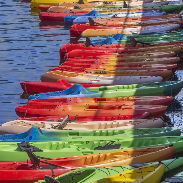 """Kayaks"" stock image"