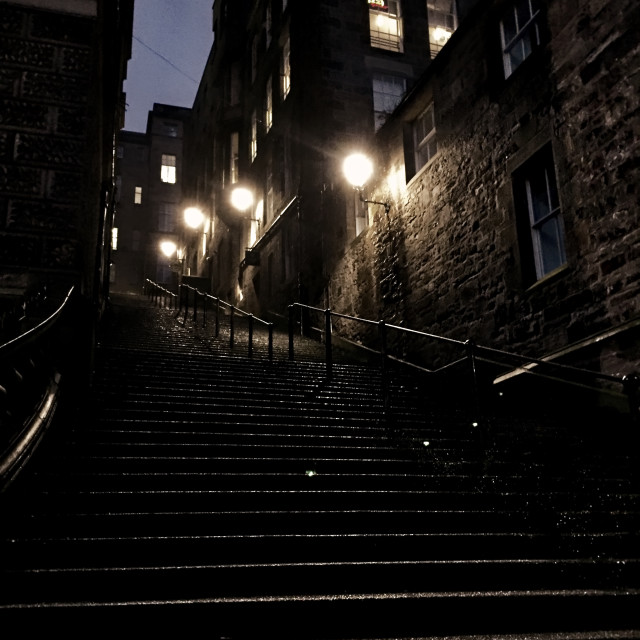 """Edinburgh Old Town"" stock image"