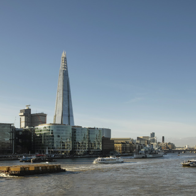 """""""The Shard from Tower Bridge"""" stock image"""