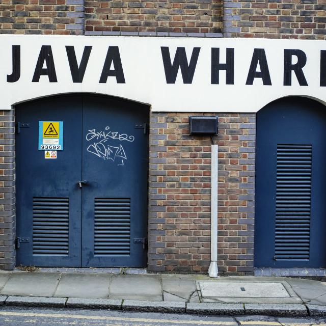 """Java Wharf"" stock image"