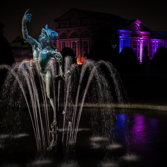 """Mercury fountain Syon House"" stock image"
