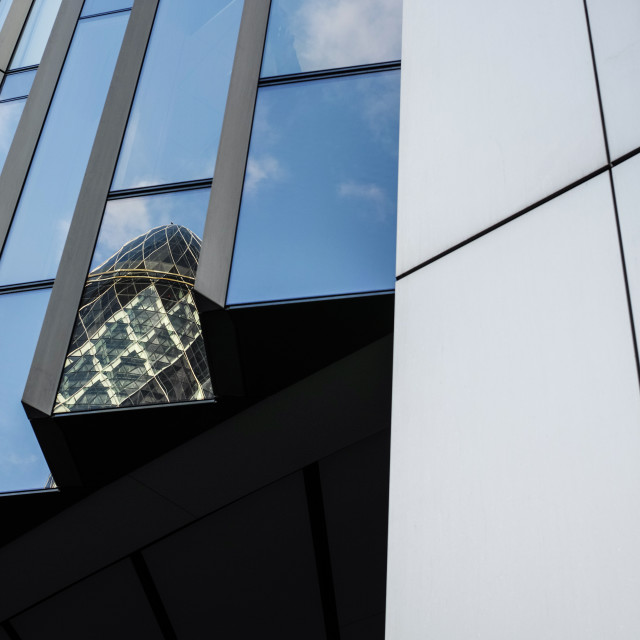 """""""The Gherkin Reflection"""" stock image"""