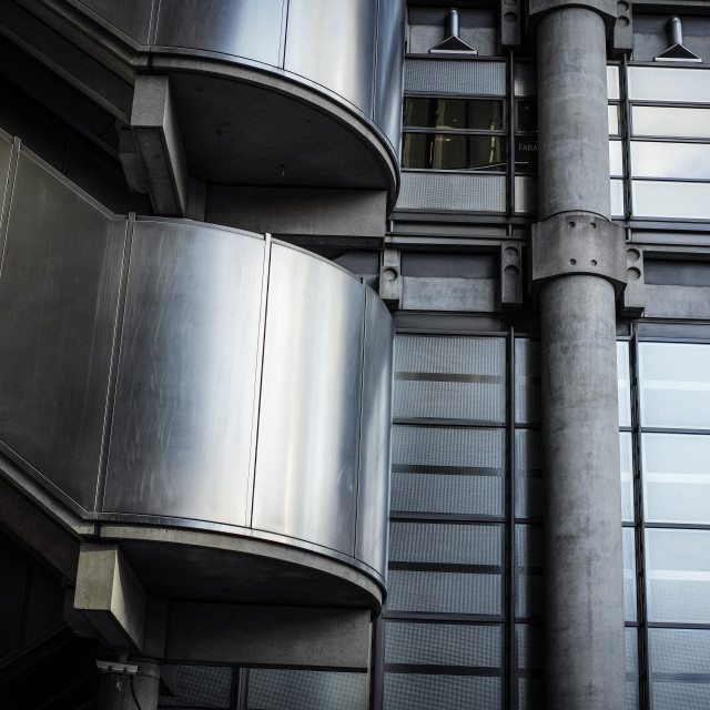 """""""The Lloyds Building..."""" stock image"""