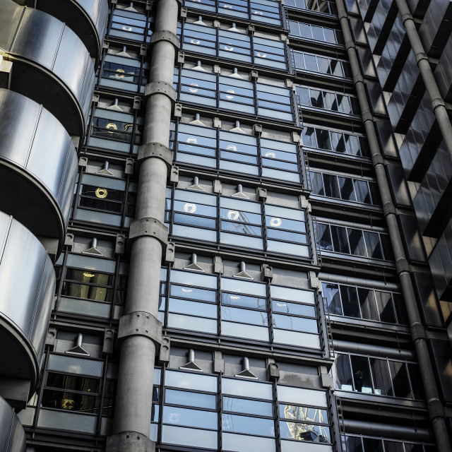 """""""The Lloyds Building"""" stock image"""