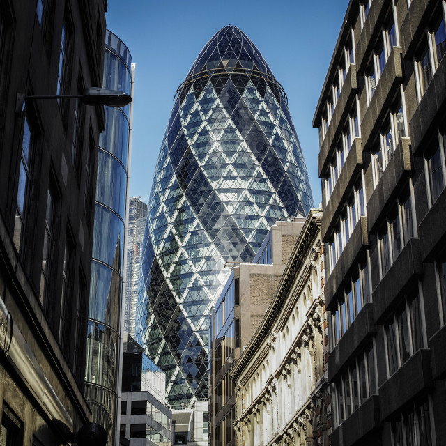 """""""The Gherkin..."""" stock image"""