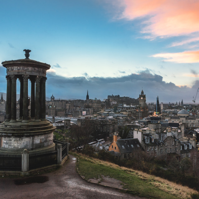 """Calton Hill, Edinburgh, Scotland"" stock image"