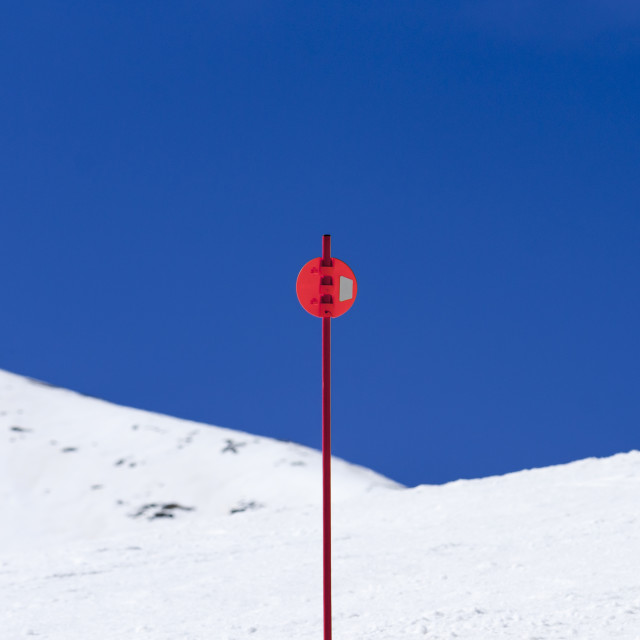 """Signal in ski slope"" stock image"