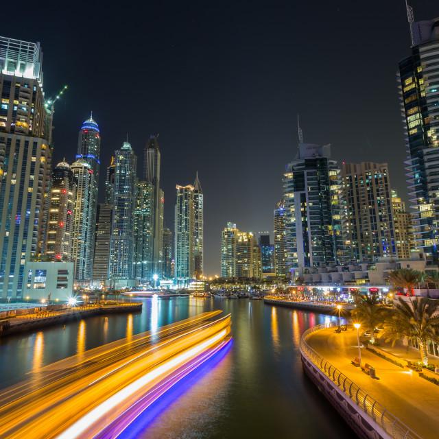 """Dubai marina"" stock image"