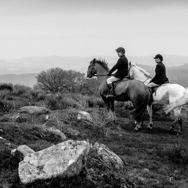 """Dartmoor Ride"" stock image"