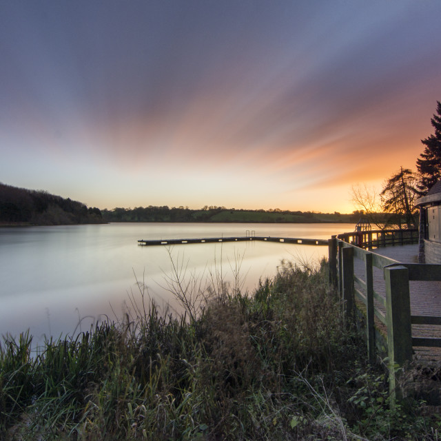 """Thornton Reservoir"" stock image"