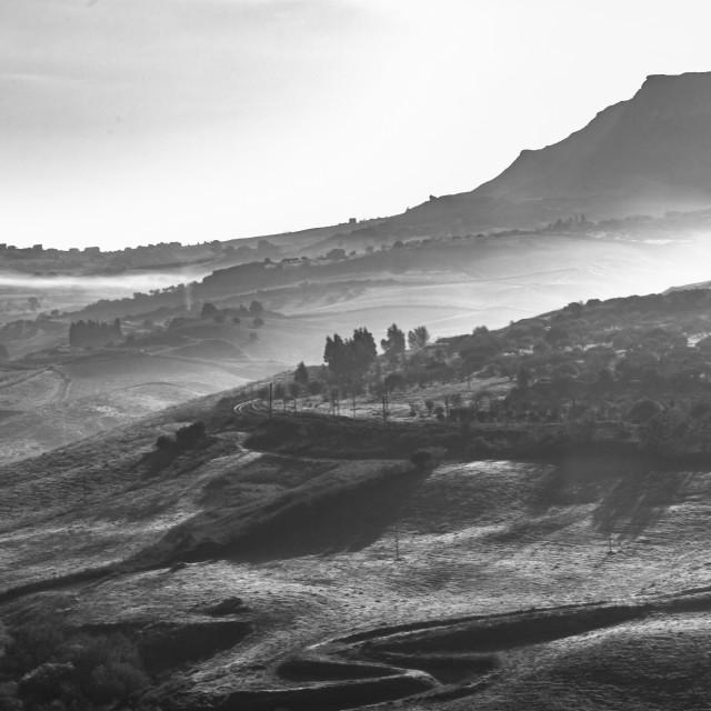 """Sicilian Winter Landscape"" stock image"